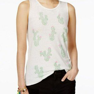 Junk Food Cactus Print Sleeveless Tank Top NWOT